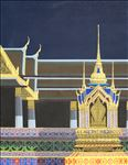แสงสุวรรณภูมิ (วัดพระศรีรัตนศาสดาราม), The Light of Suwannabhumi (The Temple of the Emerald Buddha and the Grand Palace), Preecha Thaothong, 2008, Acrylic on canvas, 120x90cm