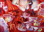 ฅน ธันวาคม 50 /Mankind December 2007, 2008, Oil on canvas, 120 x 100cm