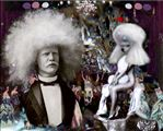 Circassian Beauty, Poodle Exhibit with Unzie the Australian Albino Apollo, Diane Mantzaris, 2011, Photograph, 176x120cm