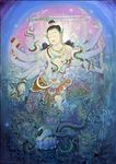 ศิวะนาฎราช, Dancing Shiva, 2007, Acrylic on canvas, 190x140cm