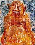 ท่านอ้วน/ The Fat Man, 2008,  Acrylic and Tempera on Canvas, 110x90cm
