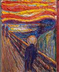 Edvard Munch : The Scream : 1893, 2021, Oil on linen, 69x57 cm.