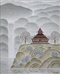 ธรรมสถาน, The place of Dham 1, Songdej Thipthong, 2008, Acrylic on canvas, 90x70cm