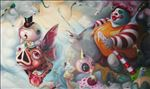 Away with that Bite, 2011, Oil on canvas, 160x270cm