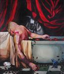 Bathroom 2, Waiyawut Promrat, 2009, Oil on canvas, 170X145CM