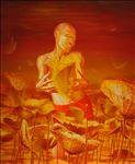 บึงสำราญ, Happy Bog, 2009, Oil on canvas, 170 x 140cm