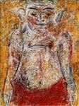 ท่านอ้วน/ The Fat Man, 2008,  Acrylic and Tempera on Canvas, 120x90cm