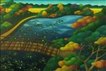 Secret garden, 2014, Oil on canvas, 95x140 cm.