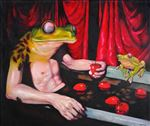 Bathroom 1, Waiyawut Promrat, 2009, Oil on canvas, 145X170CM