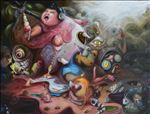 I want I scream, 2011, Oil on canvas, 160x250cm