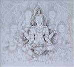 เทพรักษา, The god of Protection, 2007, Pen on paper, 30x40cm