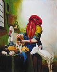 Kitchen, Waiyawut Promrat, 2009, Oil on canvas, 190x150cm