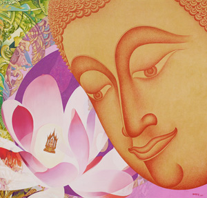 Panya buddha, 2008, Acrylic on canvas, 150x160 cm