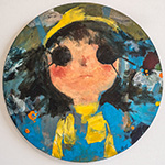 Stare, 2013, Acrylic on canvas, Diameter 50 cm